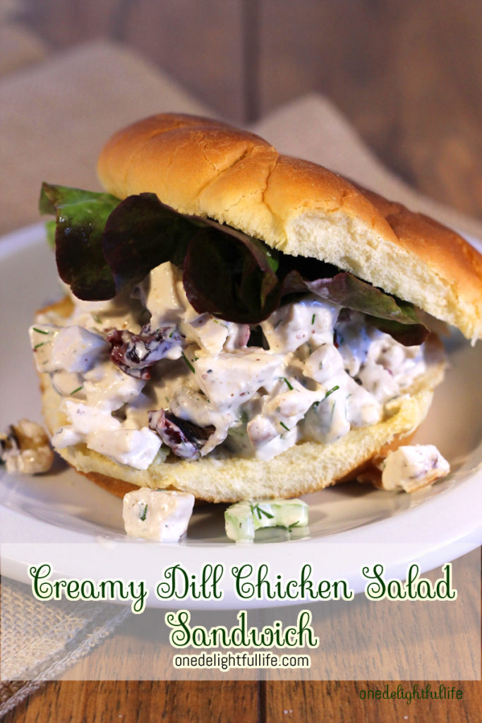 This creamy, cool chicken salad is addictive. You'll want to sandwich it between bread, pita bread, or just top it on top of a bed of mixed greens. Addictive. You've been warned.