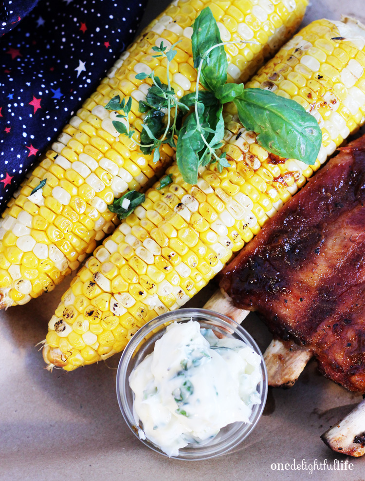 Add fresh herbs to your grilled corn to elevate its flavor.