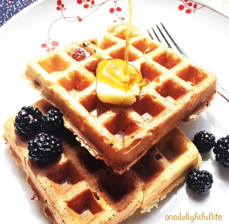 Blackberry Belgian Waffles