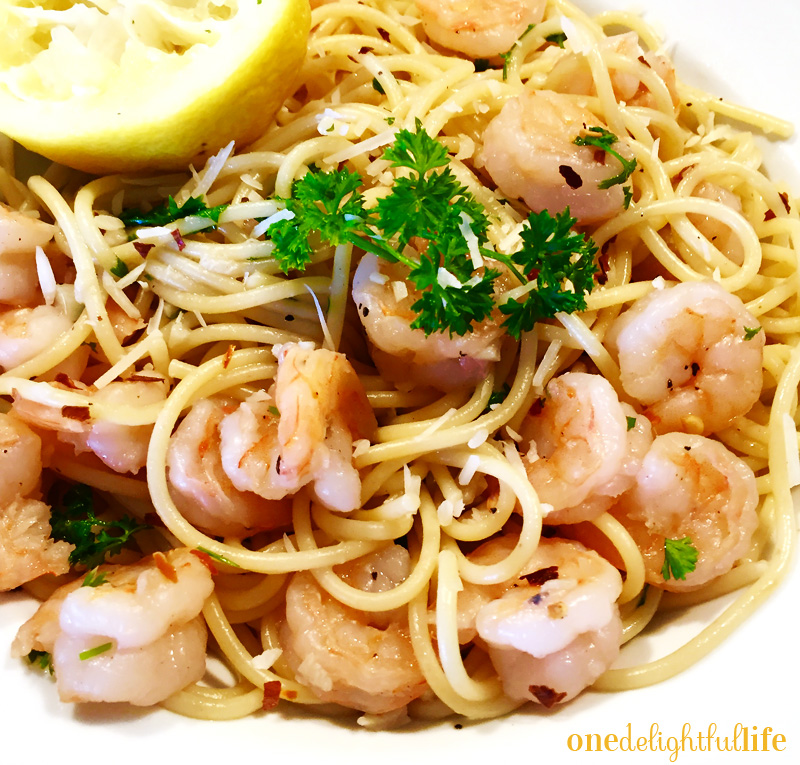 Shrimp Scampi with Pasta and Parmesan