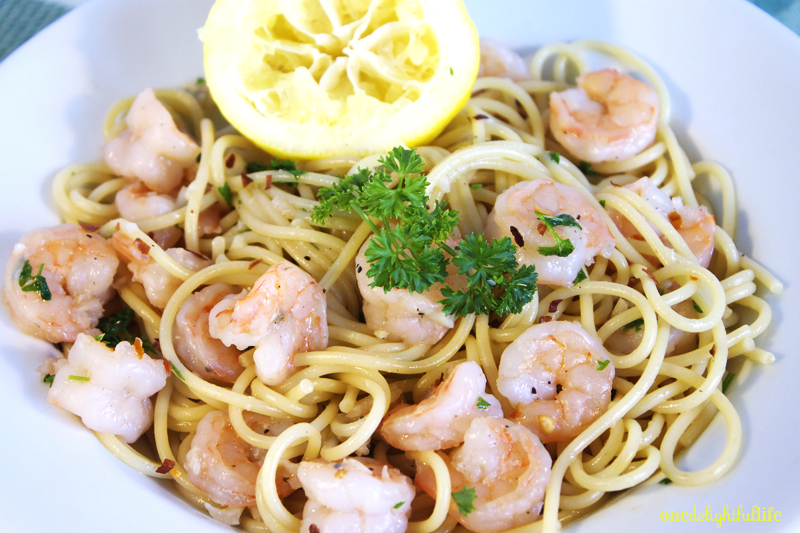 Shrimp scampi makes your tummy happy.