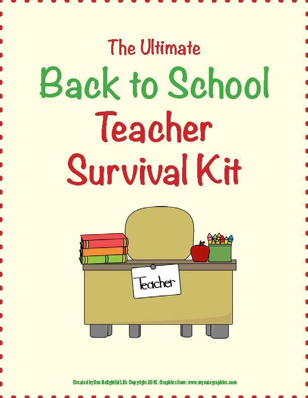 Back to School Teacher Survival Kit: How to Not Want to Quit Before Christmas