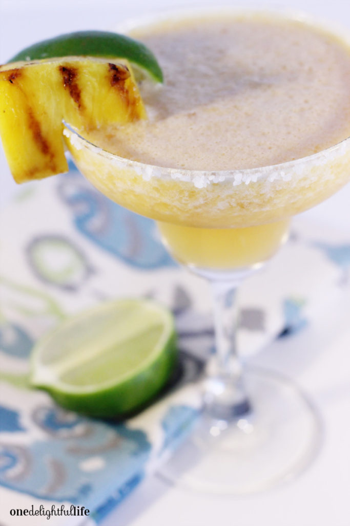 Grilled Pineapple and Peach Silver Tequila Cocktail