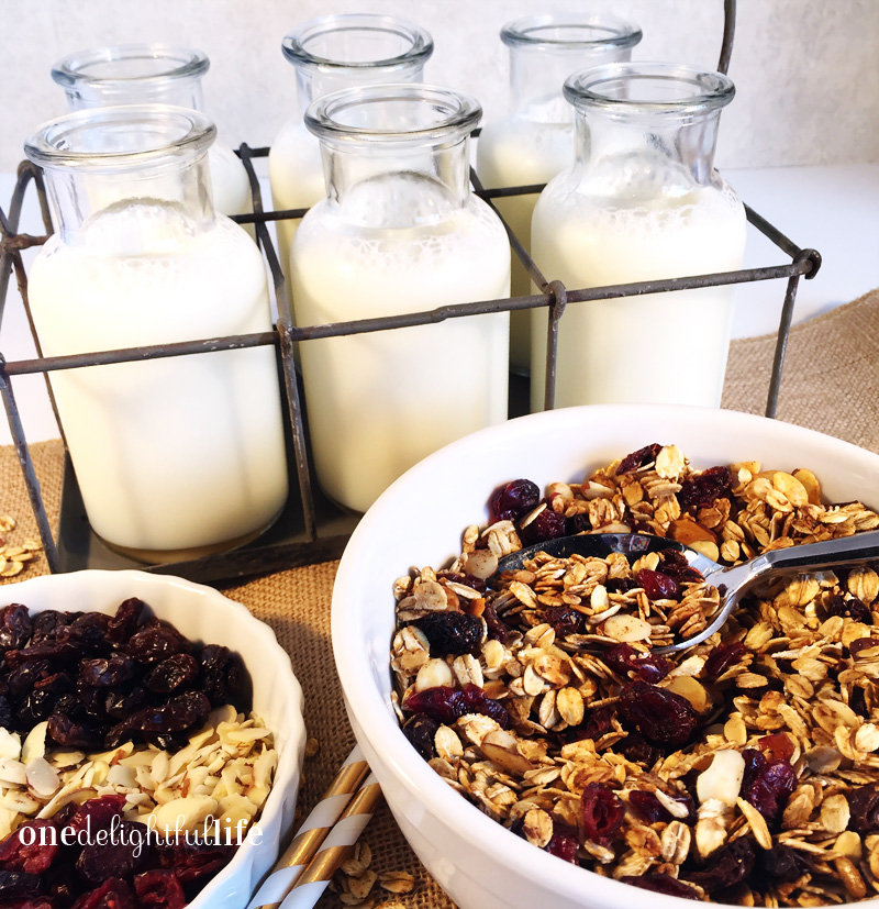Nutty Granola With Cranberries and Raisins