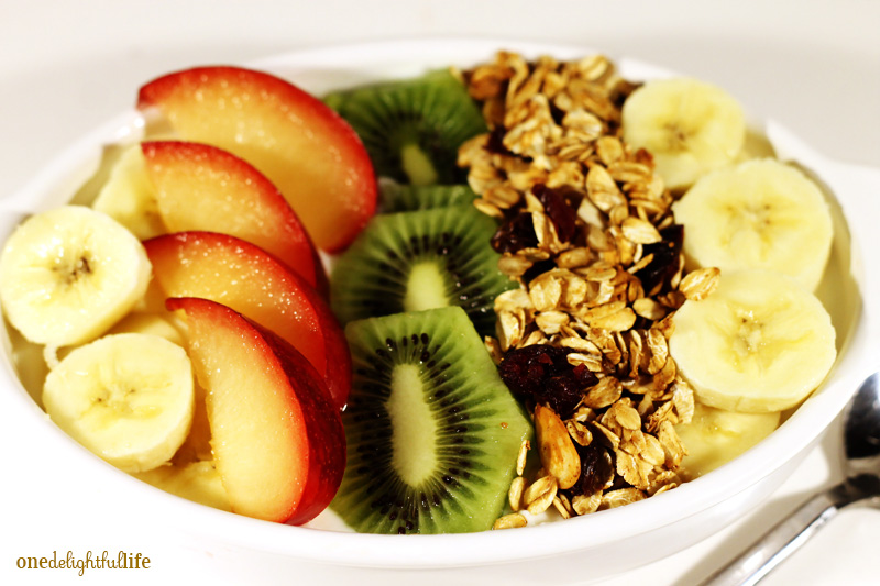 Smoothie bowls are uber trendy so try adding granola to your yogurt favorites.