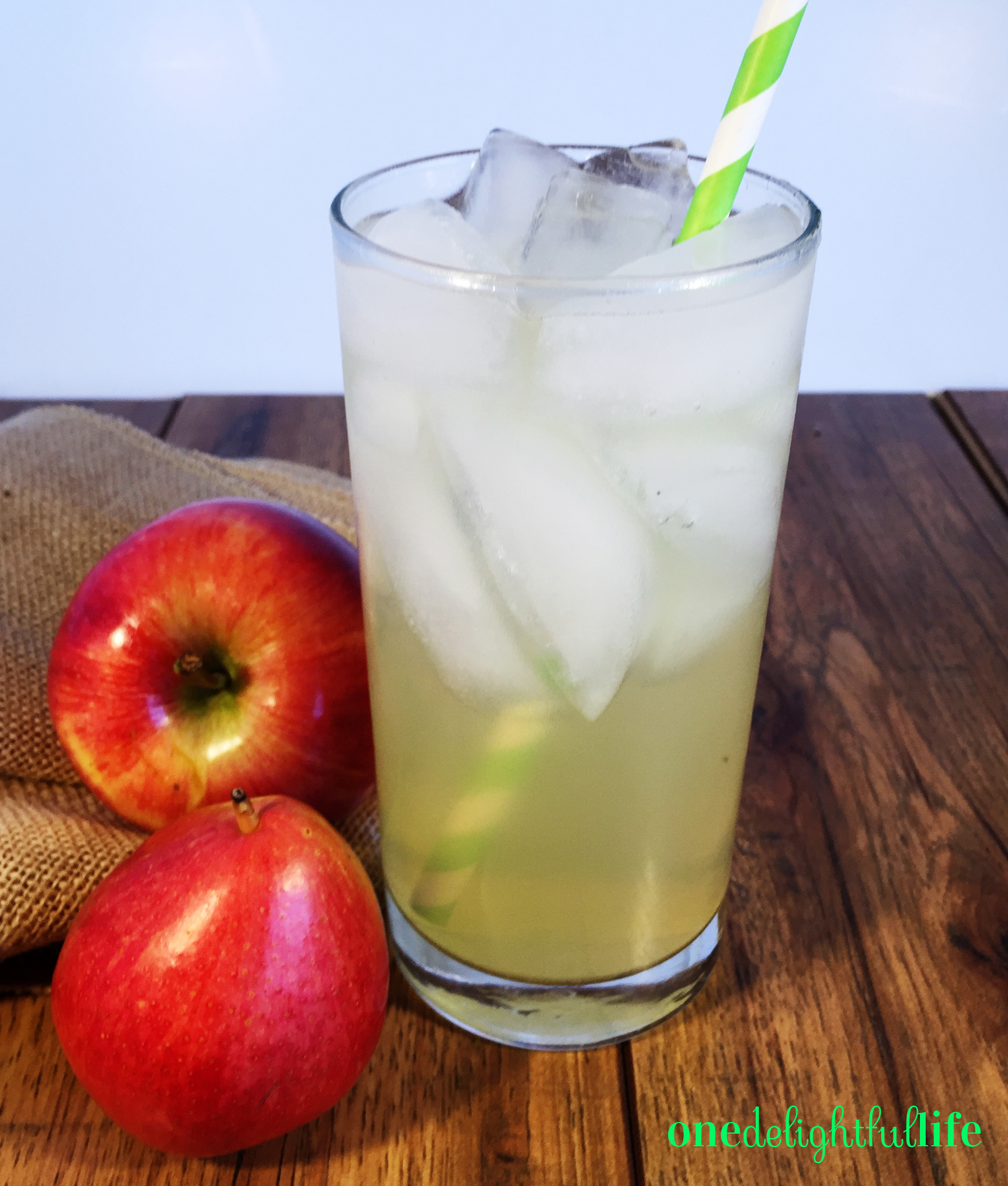 Refreshing and not as sweet, Creepy Crisp Apple and Pear Cocktail includes the flavors of fall.