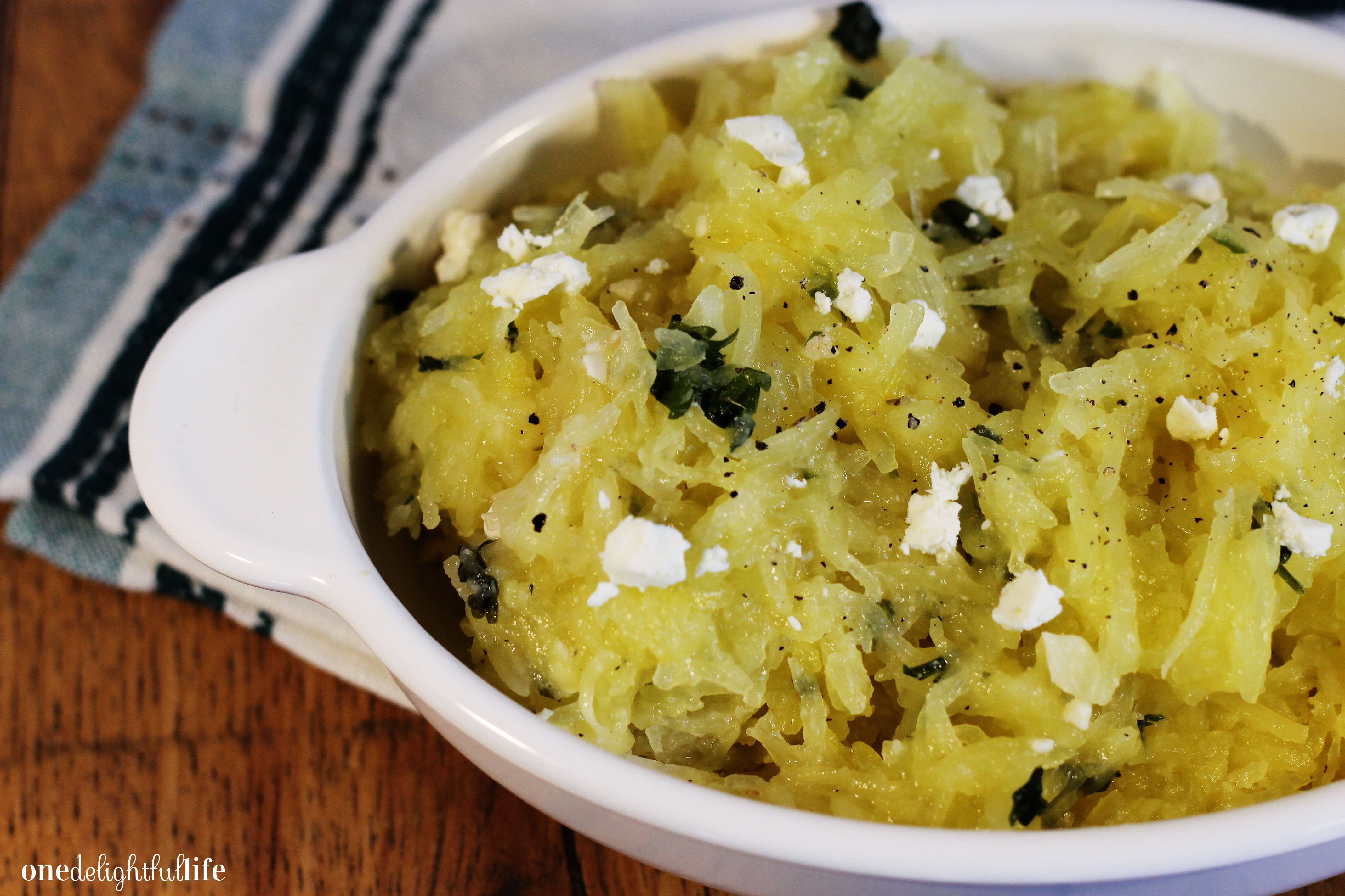 buttery-spaghetti-squash-with-garlic-and-feta