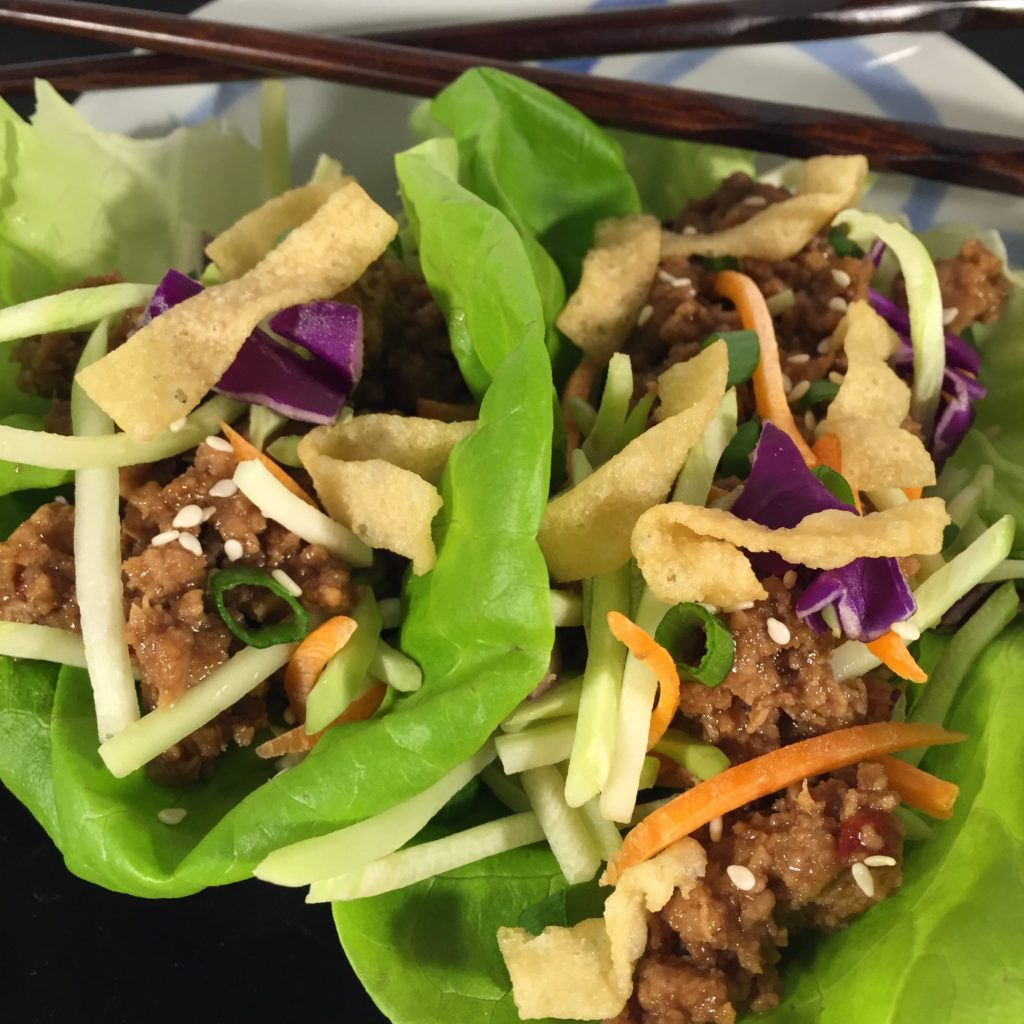 Crunchy Asian Turkey Lettuce Wraps