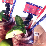 Berry Rum Smash with Lime Cocktail