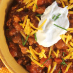 Lone Star Turkey Chili with Sour Cream and Chives