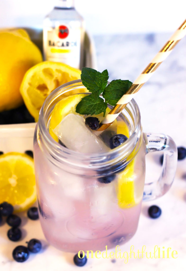 Pink Lemonade Blueberry Splash