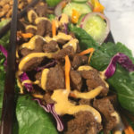 Hibachi Steak Lettuce Wraps with Asian Cucumber Salad