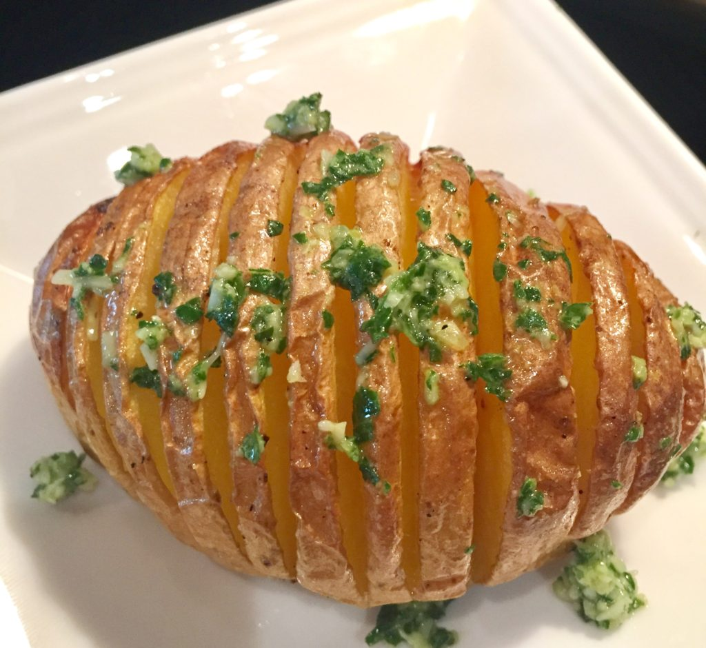 Insanely Easy Hasselback Potatoes