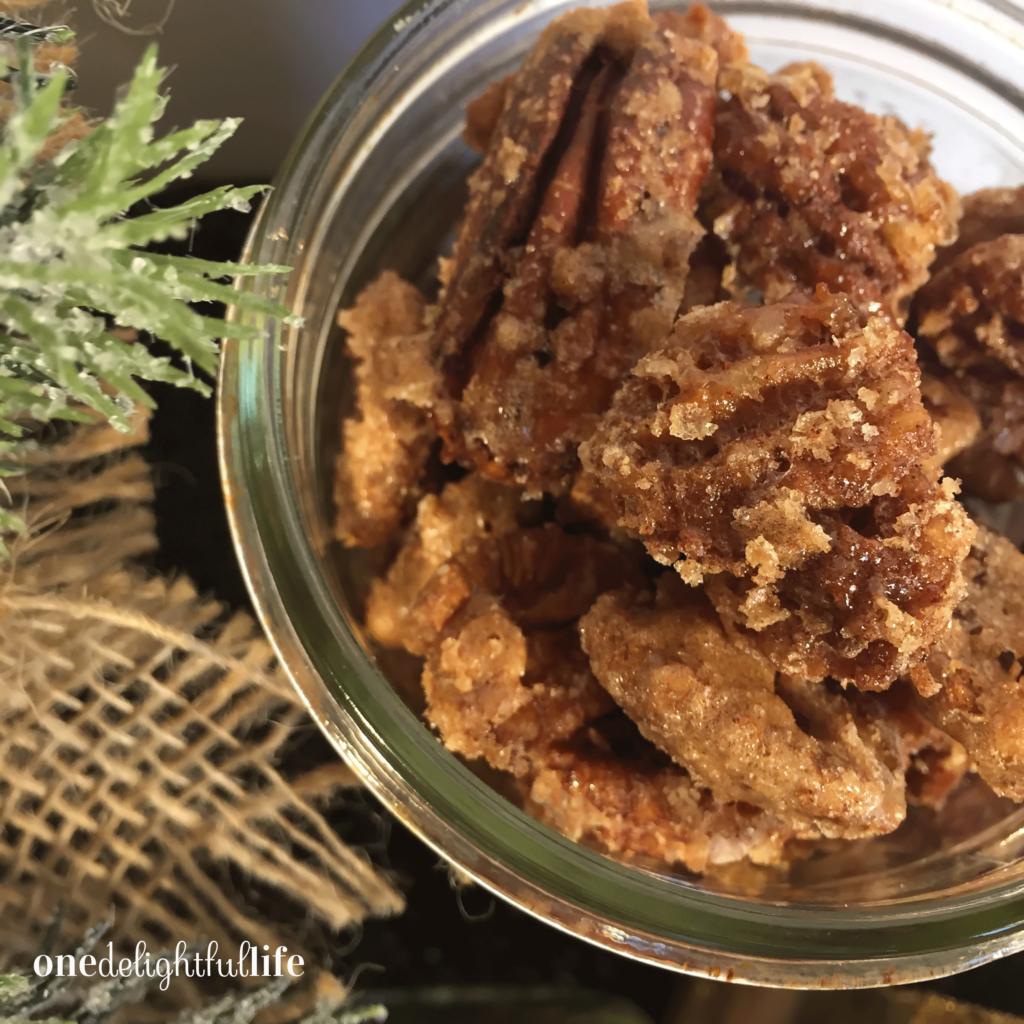 Baked Cinnamon Sugar Pecans
