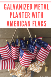 DIY Galvanized Planter With American Flags