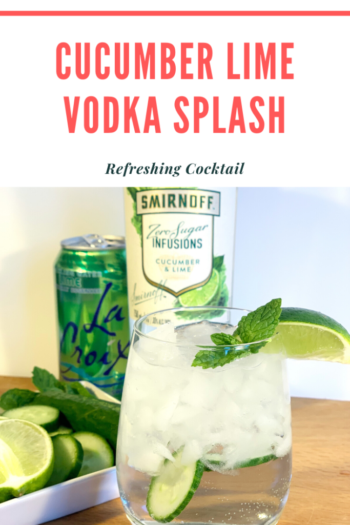 cucumber lime vodka splash
